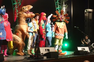 Cosplay contest (Skull Kid won)