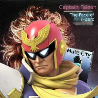 Captain Falcon's picture plastered over Bonnie Tyler's portrait on her album cover for Holding Out For a Hero