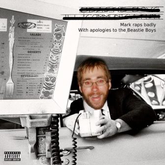 Mark's head on top of the Beastie Boys Ill Communication cover art