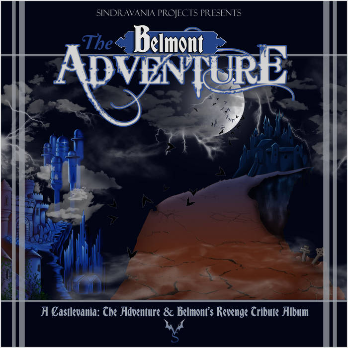 Cover art for The Belmont Adventures album - it's a narrow path leading to Dracula's Castle