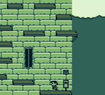 Screenshot from Postal Pete. Pete is near a mailbox, climbing a building by jumping from platform to platform