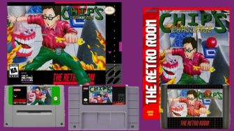 Pictures of what the physical games will look like for SNES and Genesis - cover art (which is subject to change) has Chip McLellan holding a key and jumping away from giant chomping teeth